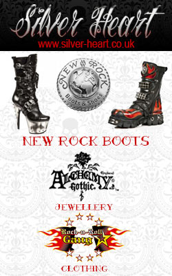 Silver Heart - New Rock Boots, Clothing and Jewellery